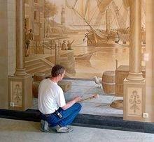 国外超逼真公共场所手绘墙画