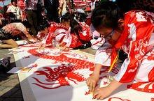 上海少年儿童百米长卷书画活动