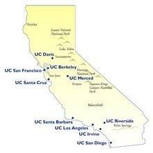 UC分校区分布图