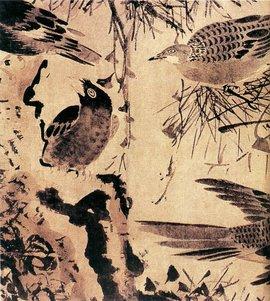 灌木集禽图