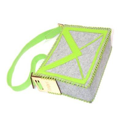包包diy创意毛毡休闲包 单肩包 斜挎包 电子邮件图标毛毡包