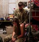 战争前线的乌克兰女兵 和男兵同住