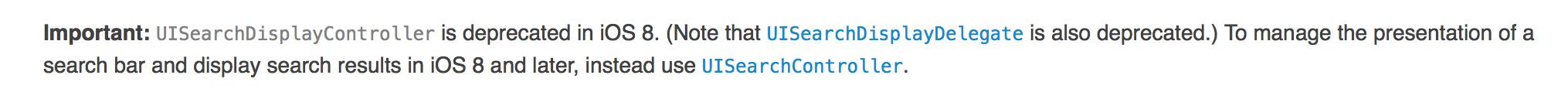 使用UISearchController