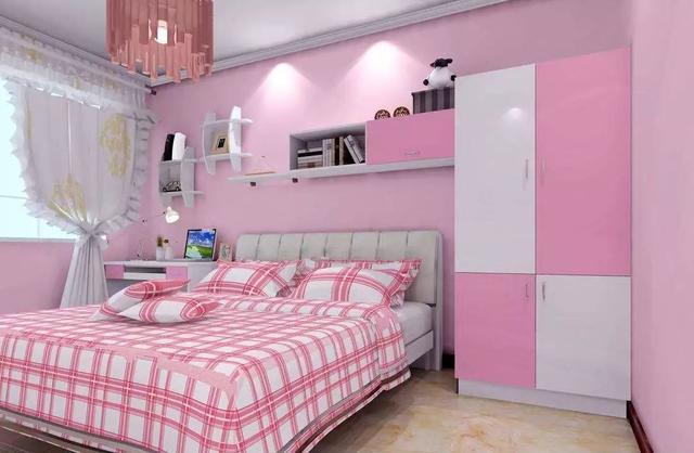 尤其是床头帷幔颇有公主风的感觉,相信每一个小女孩都会喜欢这样的