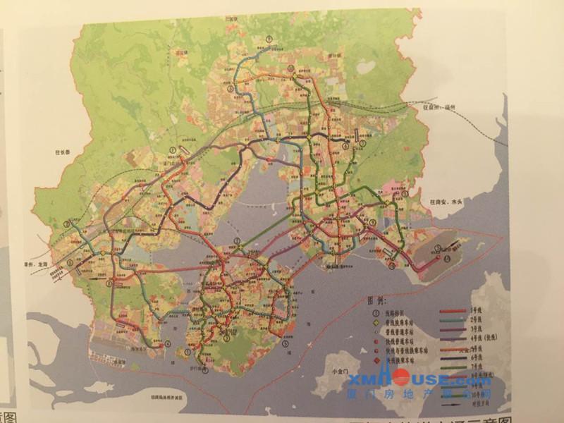 厦门地铁2号规划图_厦门地铁7、9、10号线的走向首次曝光 - 房产网