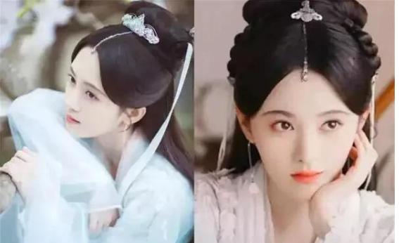 五位美人,鞠婧炜刘亦菲刘诗诗唐嫣迪丽热巴,古代装束谁最娇美