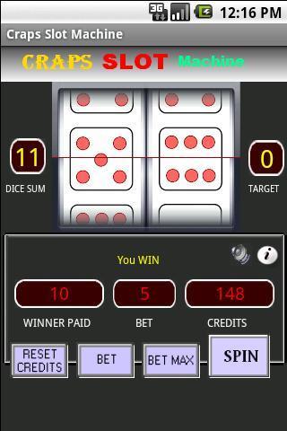 craps slot machine的截图