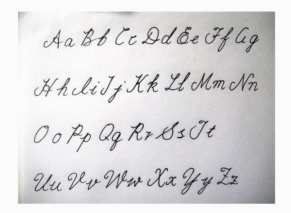 英文26個字母寫法_哥特字體26個字母圖片
