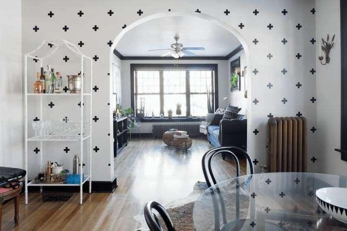 客厅全贴壁纸效果图