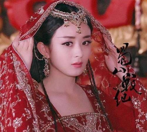 古裝電視劇額頭戴花最美女明星是誰 她美過楊冪趙麗穎圖片