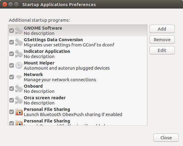 ubuntu startup application