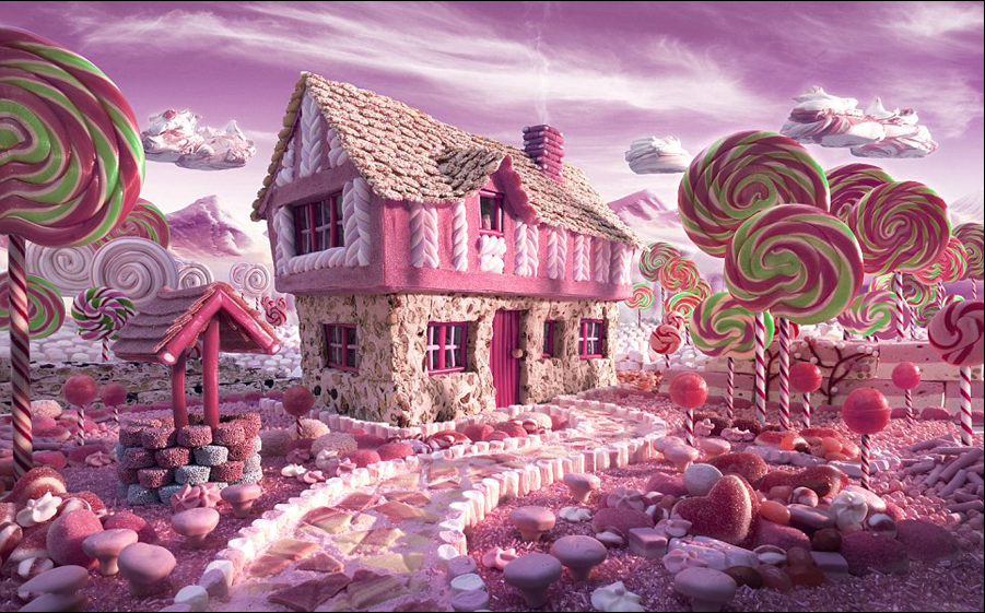 艺术家用食材打造梦幻美景.图_美景_360百科